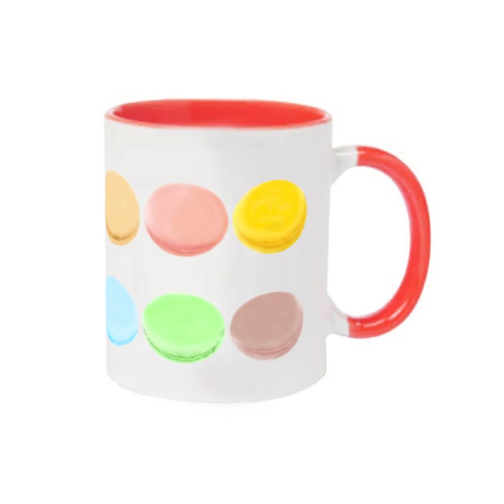 マカロンのイラストデザイン 2トーンマグカップ