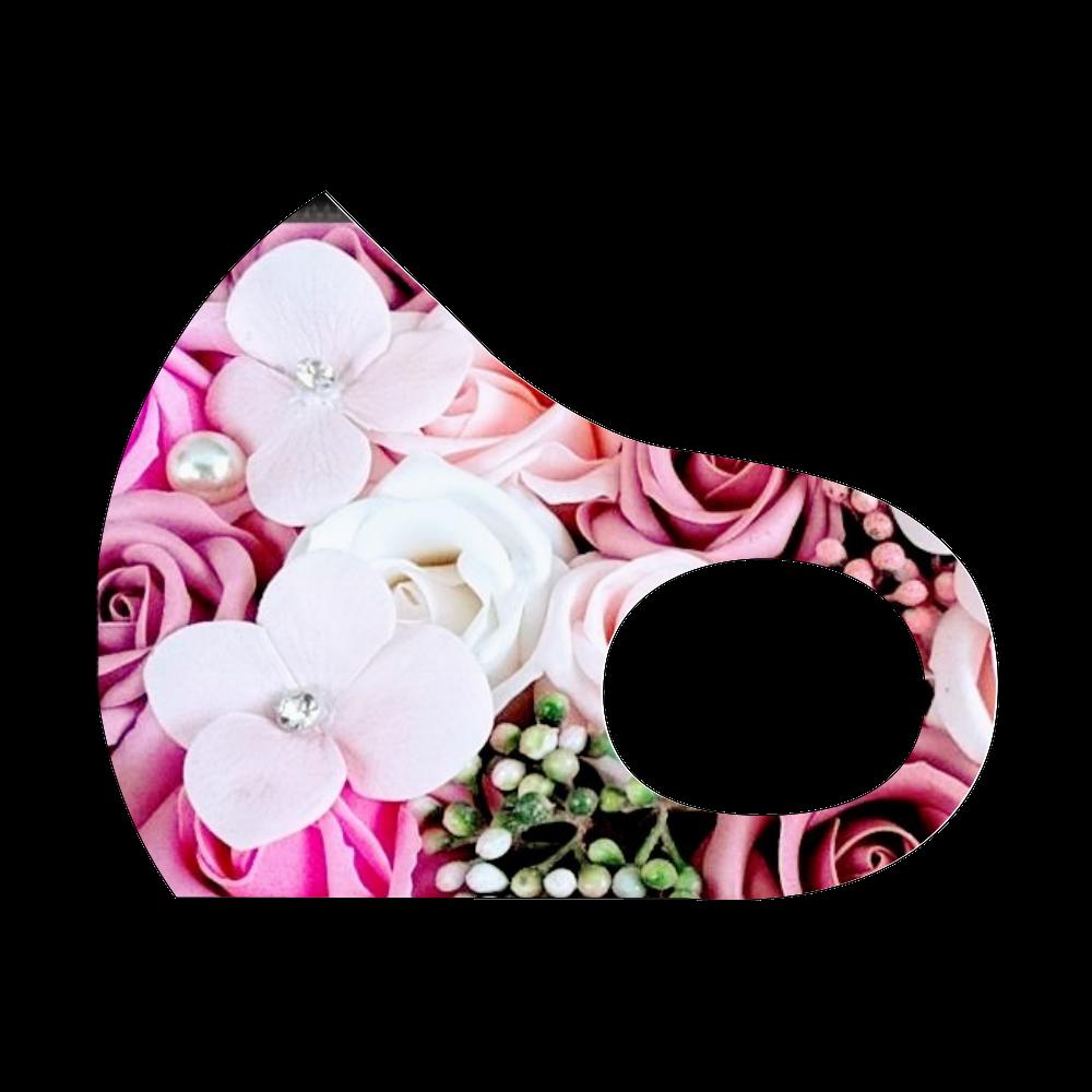 花柄デザイン スポーツマスク