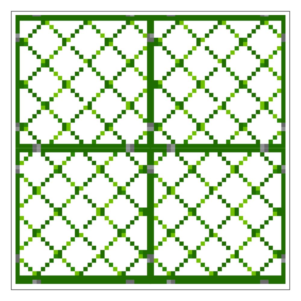 ドット絵「フェンス」アクリルブロック アクリルブロック