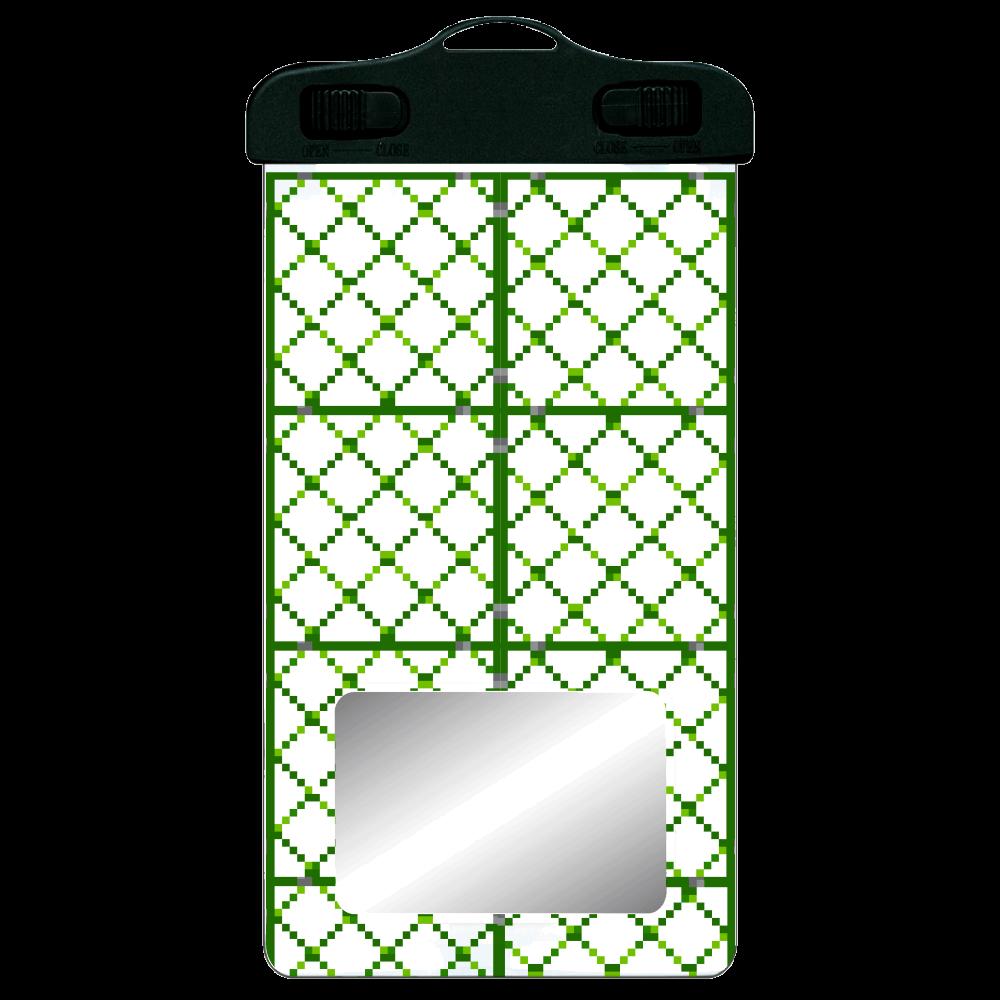 ドット絵「フェンス」防水スマホケース SPC06(防水スマホケース)