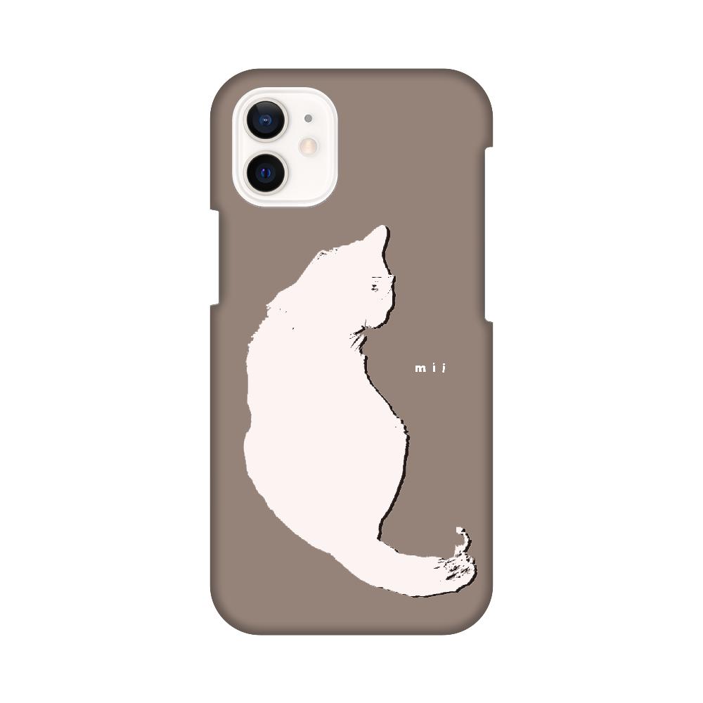 猫 シンプル モバイルカバー猫 iPhone12 mini