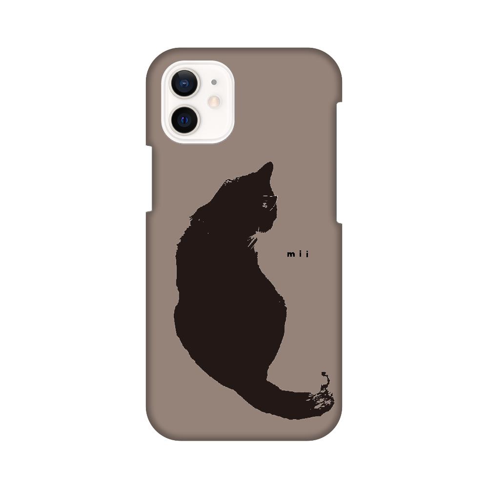 猫 シンプル モバイルカバー iPhone12 mini