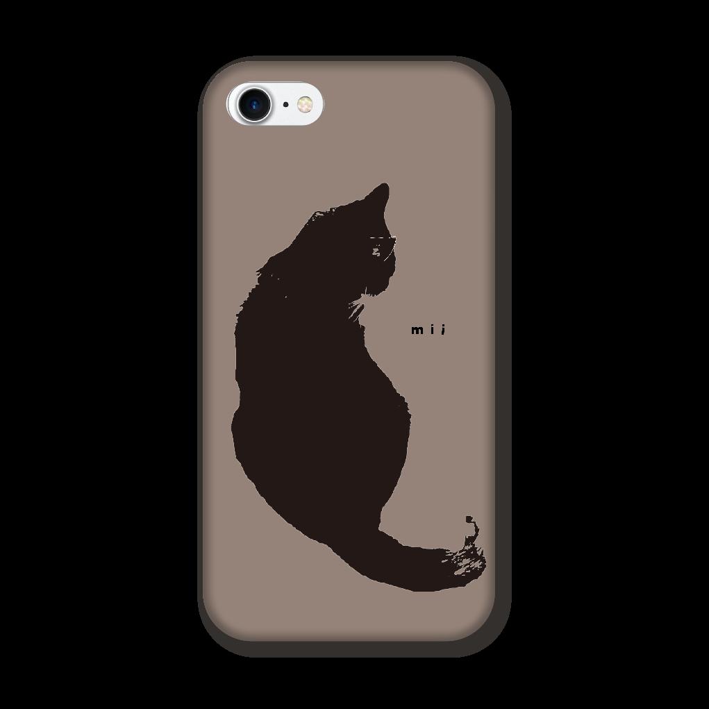 猫 シンプル モバイルカバー iPhone8