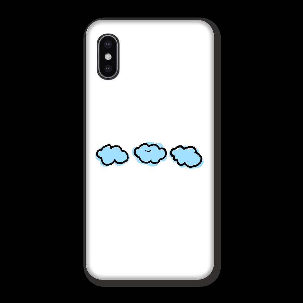 なぞだよ くも 背景白 スマホケース iPhoneX/Xs