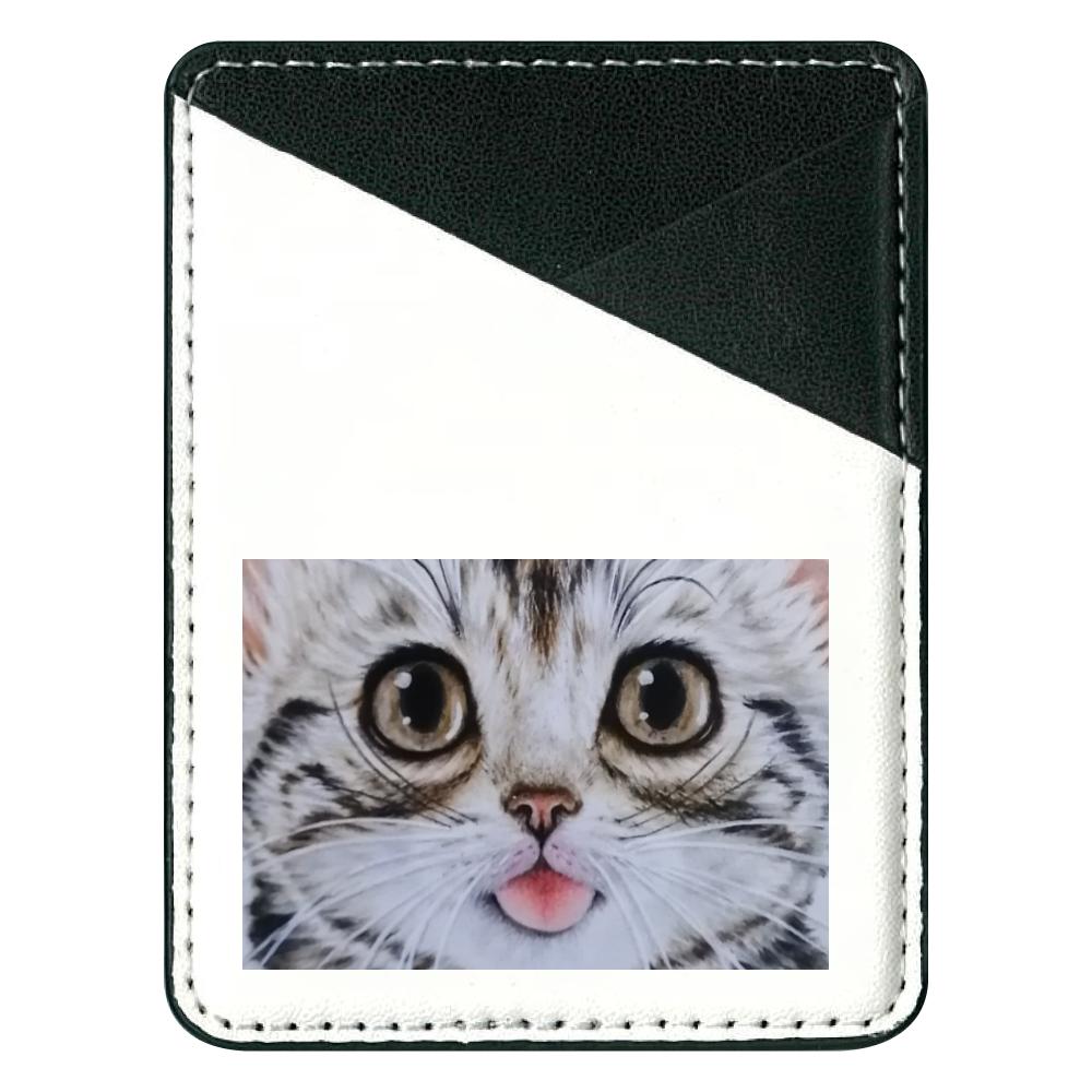 貼り付けパスケース 猫舌アメショー 貼り付けパスケース(スマホ用)