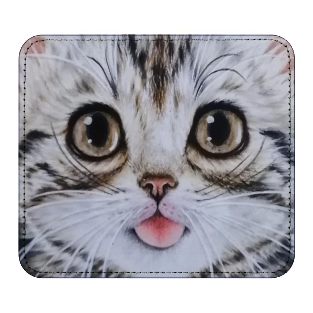 マウスパッド 猫舌アメショー レザーマウスパッド(スクエア)