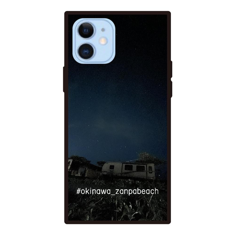 沖縄残波ビーチ【夜】12/12pro用ver2 iPhone12/12pro 背面強化ガラス(スクエア)