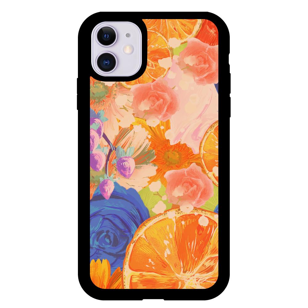 Flowersデザイン iPhoneケース iPhone11 クリアパネルラバーケース