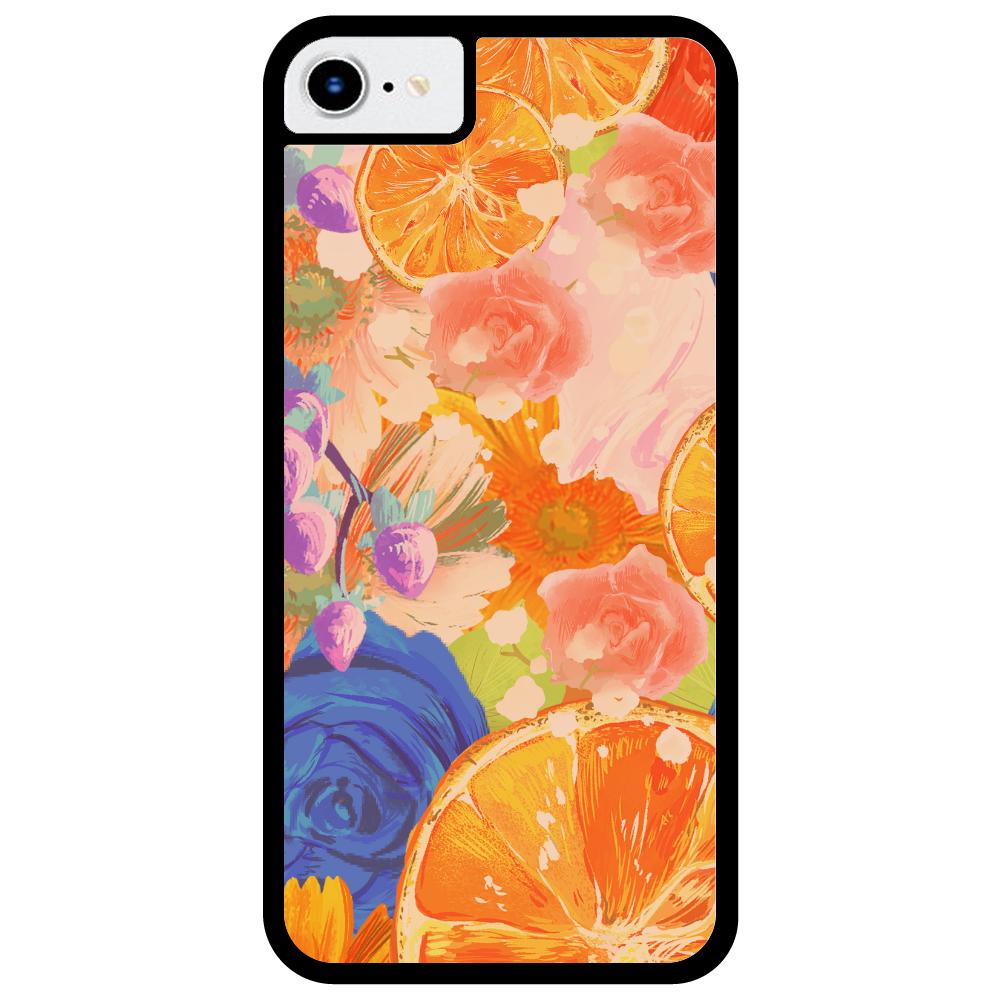 Flowersデザイン iPhoneケース iPhone8_プリントパネルラバーケース