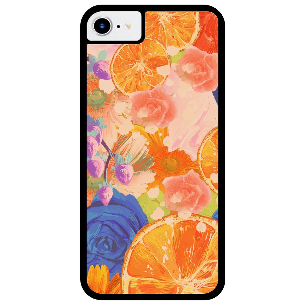 Flowersデザイン iPhoneケース iPhone7_プリントパネルラバーケース