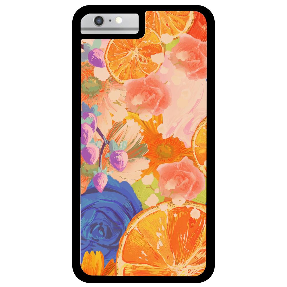 Flowersデザイン iPhoneケース iPhone6Plus_プリントパネルラバーケース