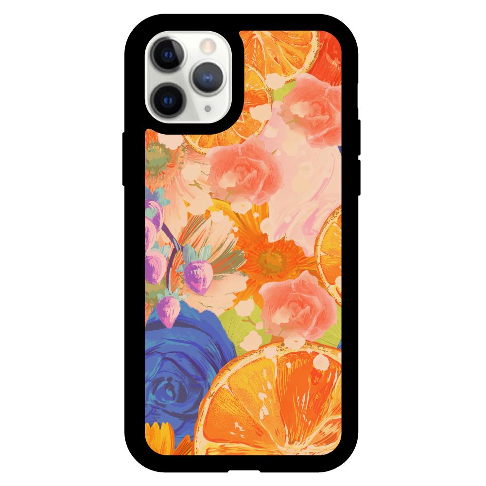 Flowersデザイン iPhoneケース iPhone11pro クリアパネルラバーケース