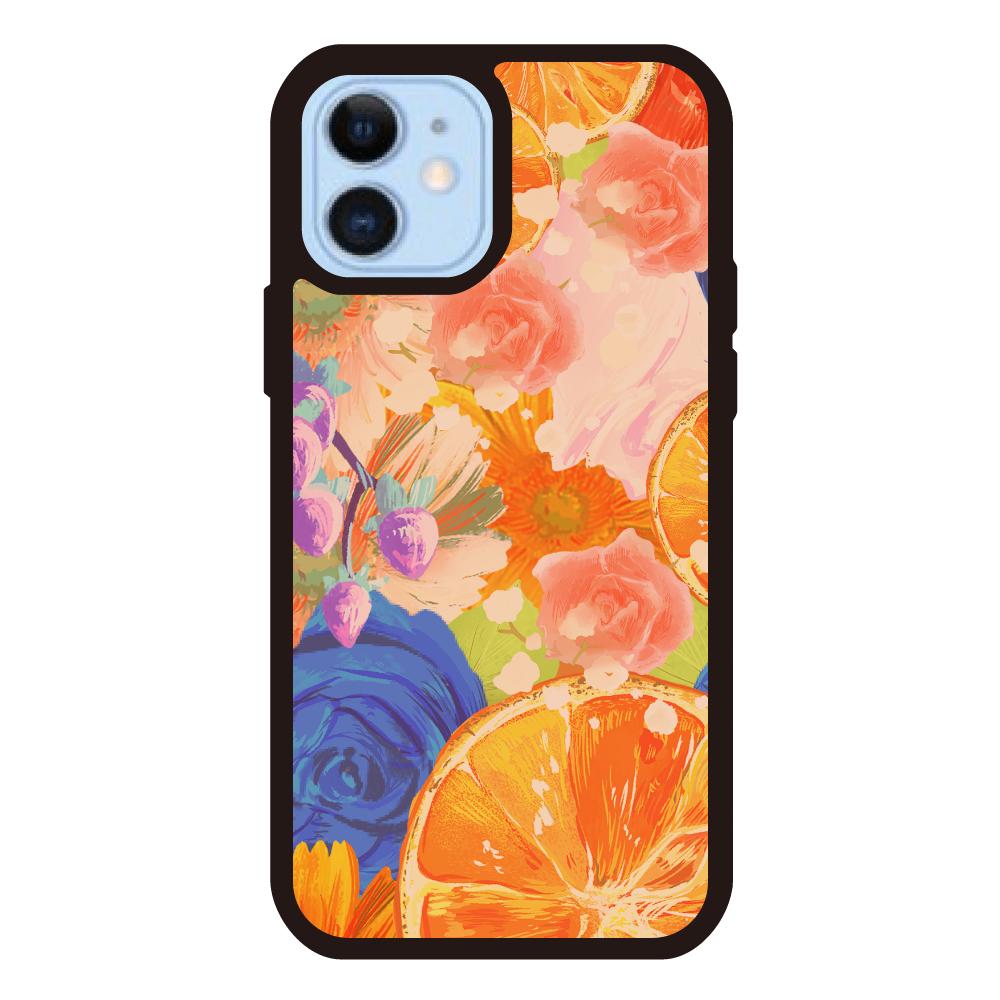 Flowersデザイン iPhoneケース iPhone12/12Proクリアパネルラバーケース