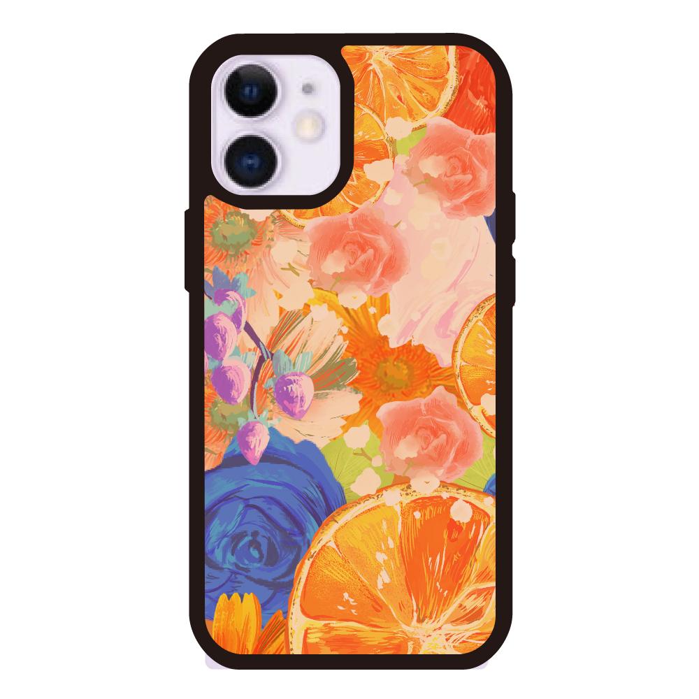 Flowersデザイン iPhoneケース iPhone12miniクリアパネルラバーケース