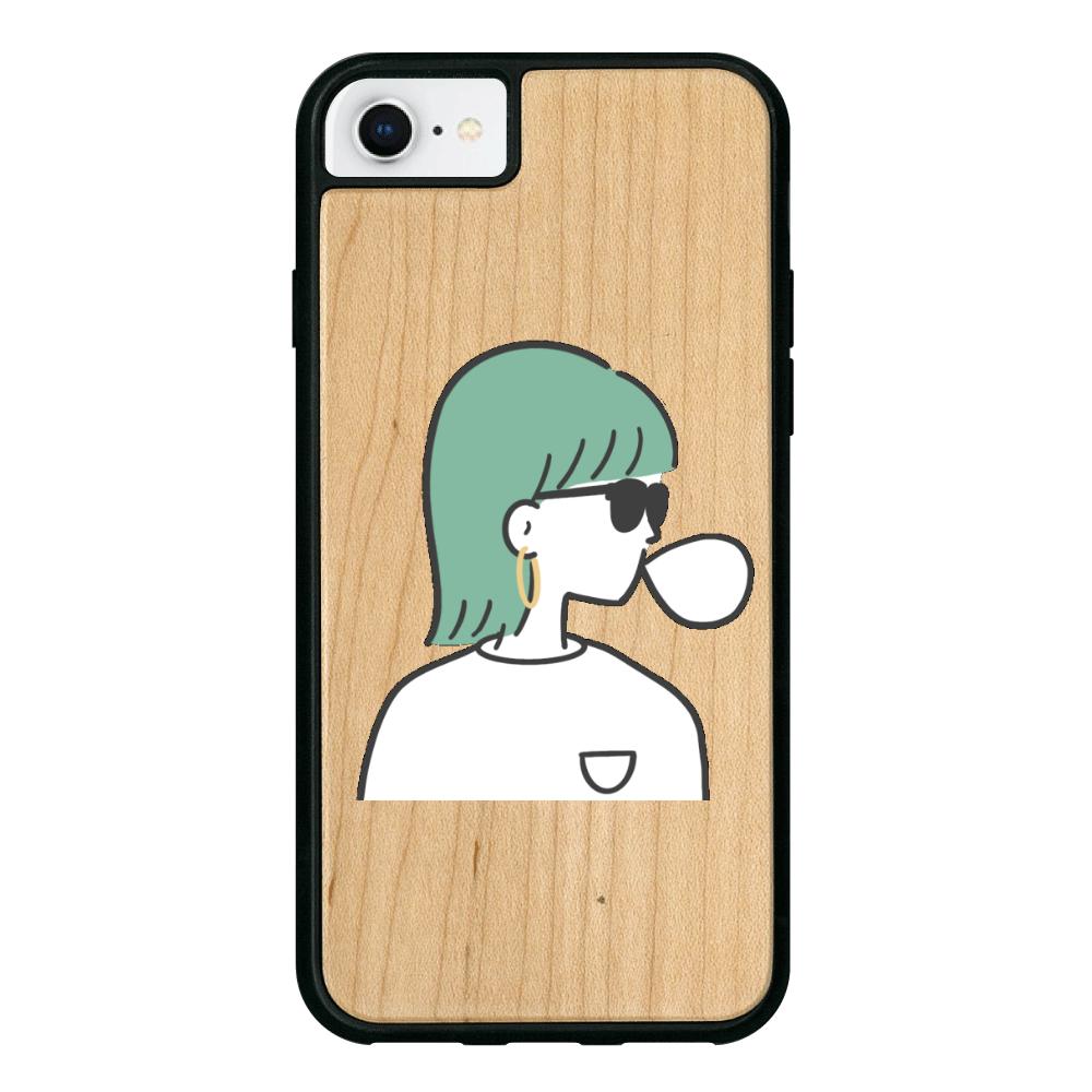 バブルガム iPhone8 ウッドケース