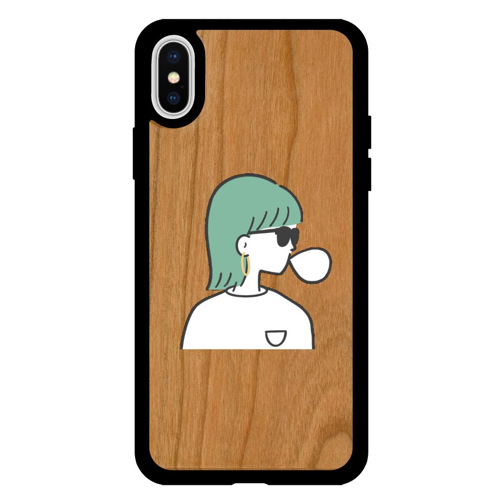 バブルガム iPhoneX/XS ウッドケース