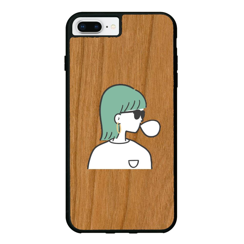 バブルガム iPhone7 Plus ウッドケース
