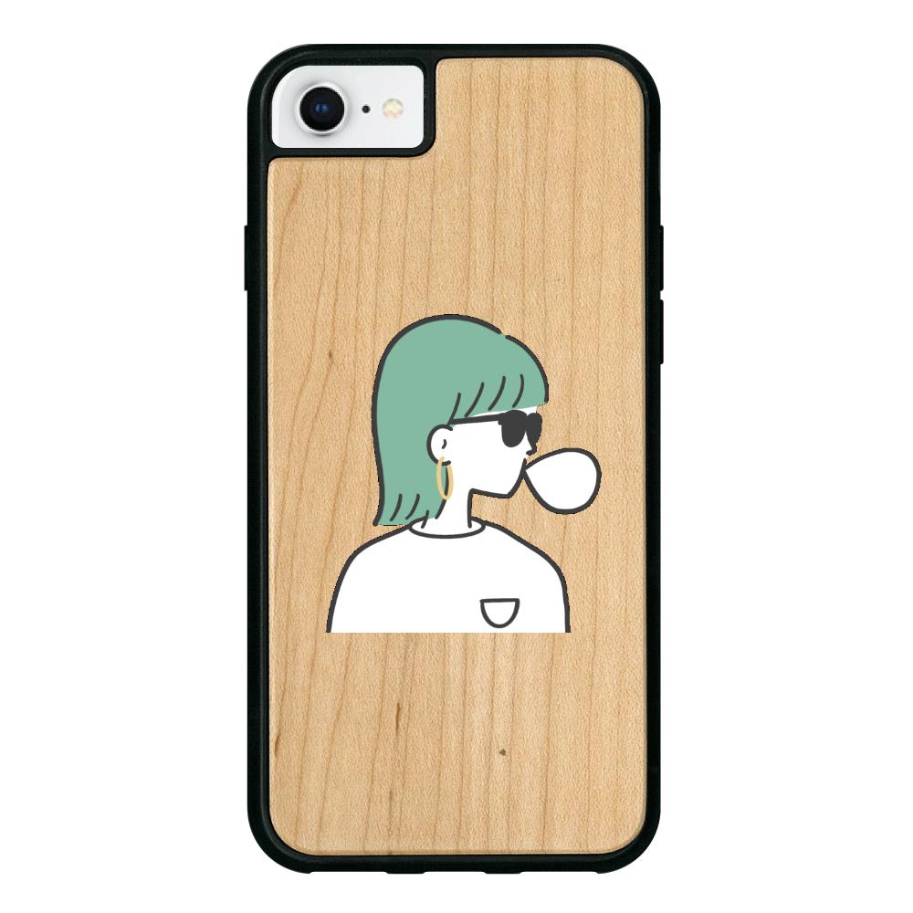 バブルガム iPhone7 ウッドケース