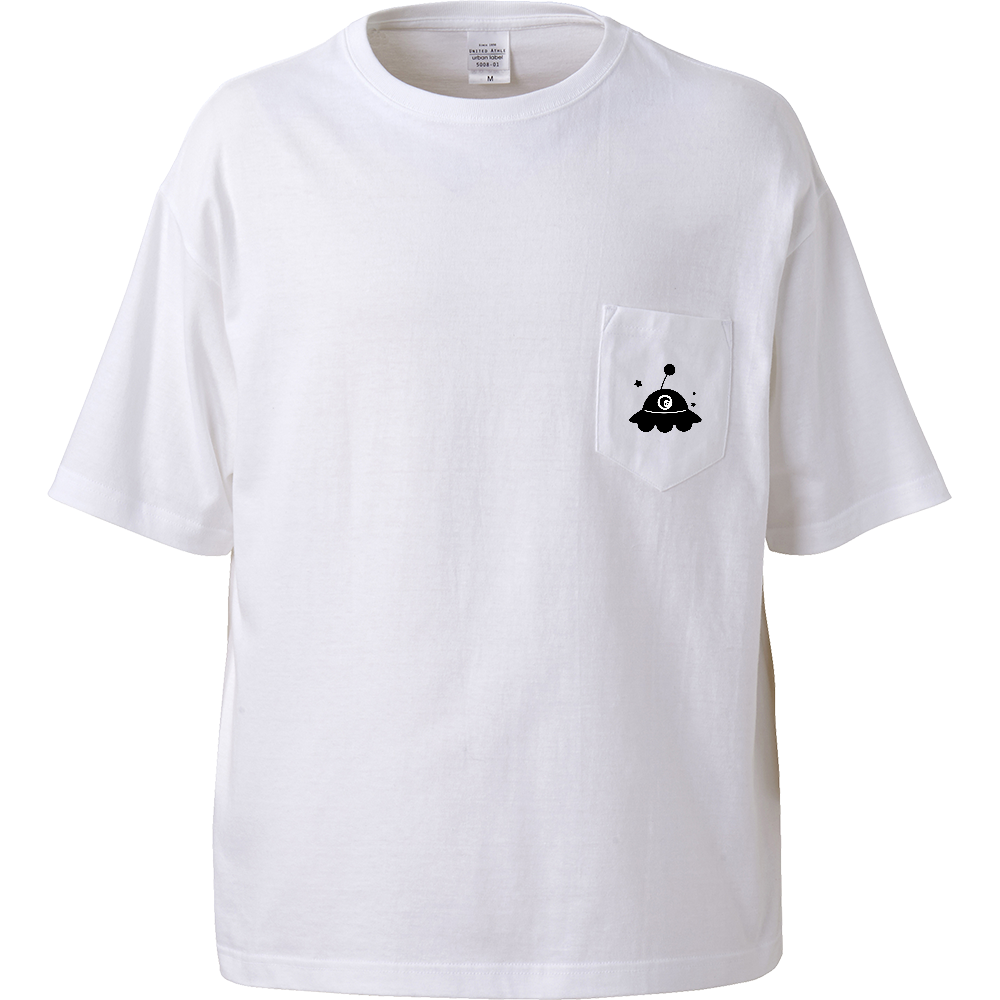 UFO Tシャツ ビッグシルエットTシャツ(ポケット付)