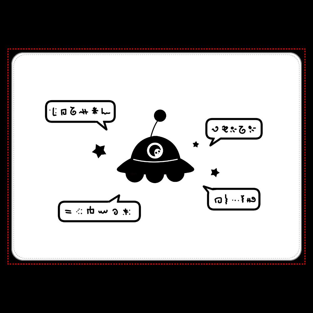 よく喋るUFO タブレットケース タブレットケース汎用Mサイズ