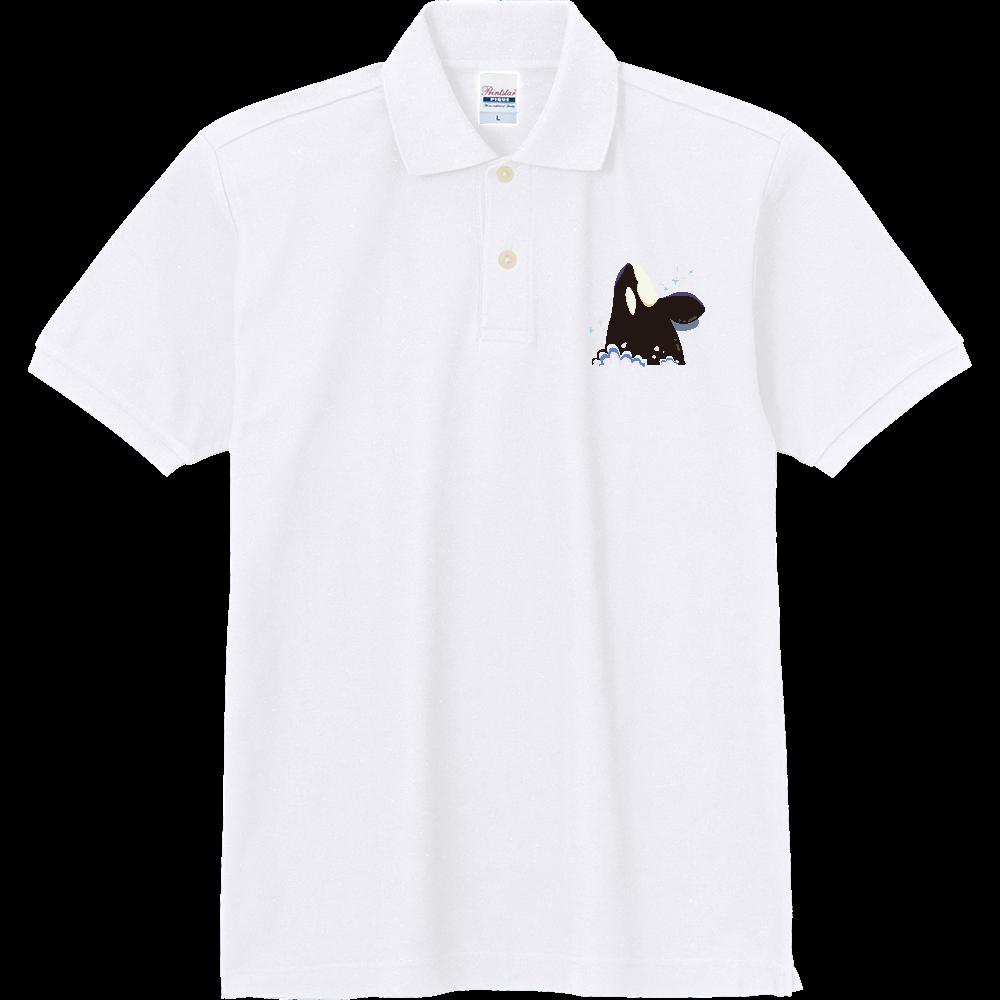 こんにちはシャチ 定番ポロシャツ