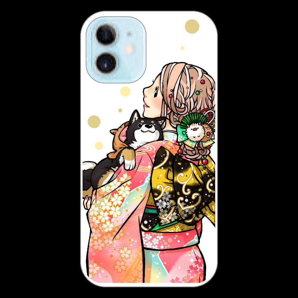 きもの女子と黒柴_B iPhone12 mini