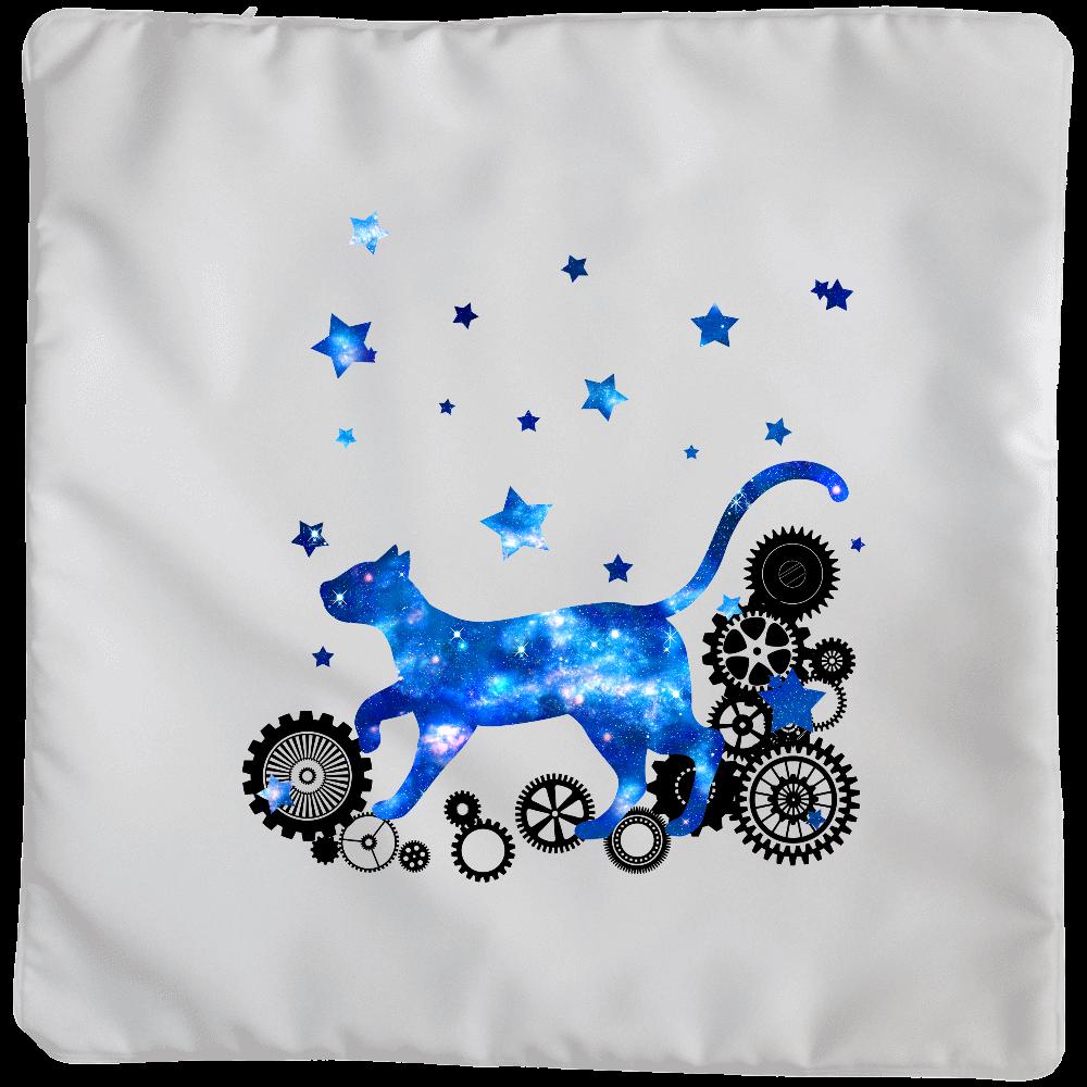 宇宙猫と歯車 クッション(大)