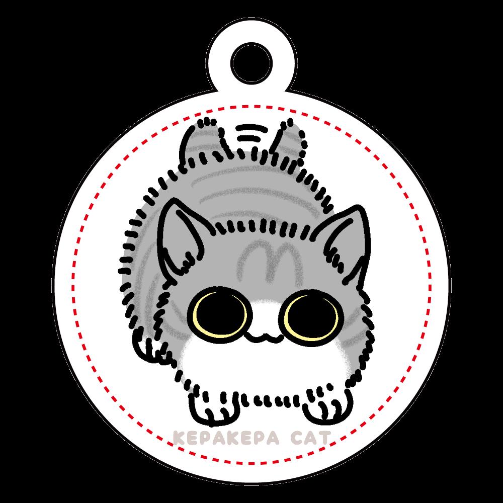 ふりふり子猫 アクリルキーホルダー 丸型 (4cm)