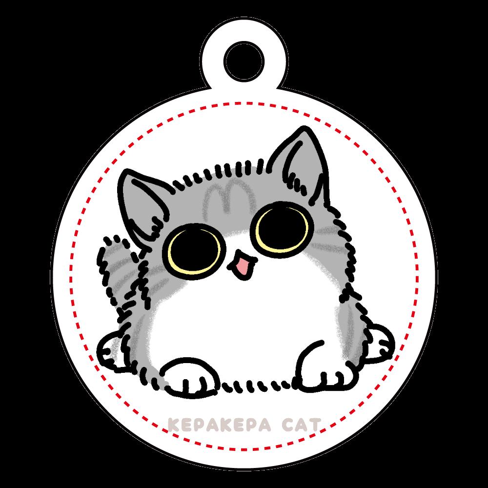 ぼんやり子猫 アクリルキーホルダー 丸型 (4cm)