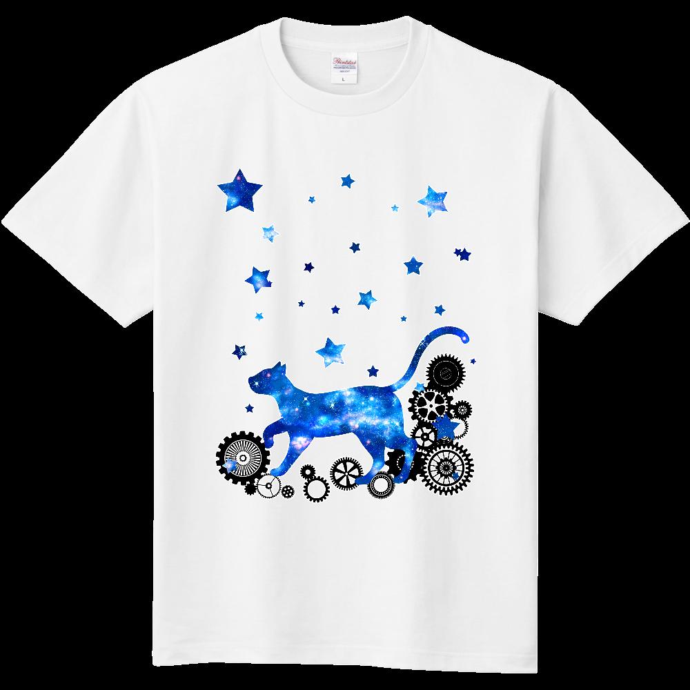 宇宙猫と歯車 定番Tシャツ