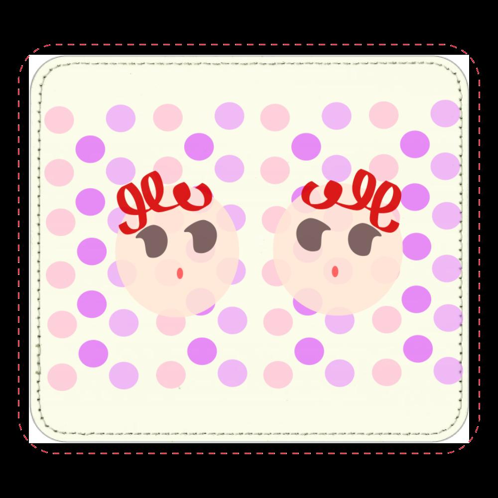 くるくるFUTAGO♡ レザーマウスパッド(スクエア)