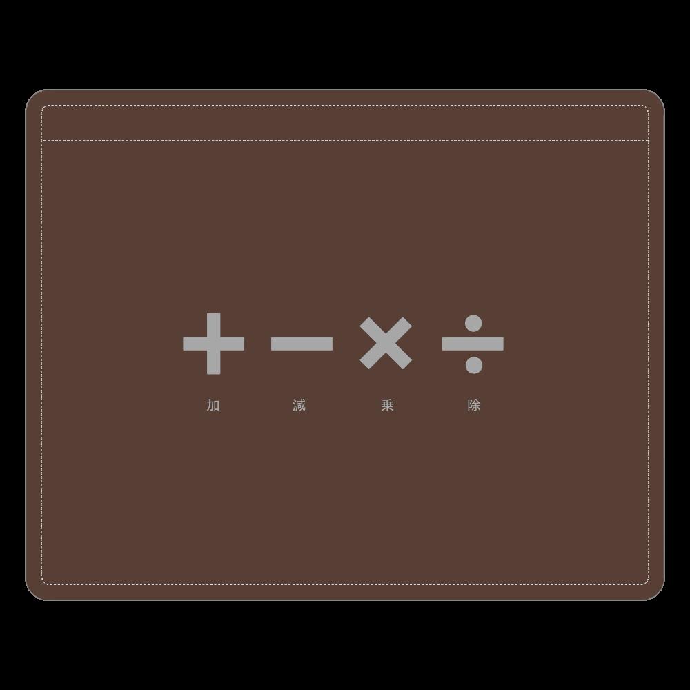 四則計算・グレー レザーIDカードホルダー レザーIDカードホルダー(ネックストラップ付)
