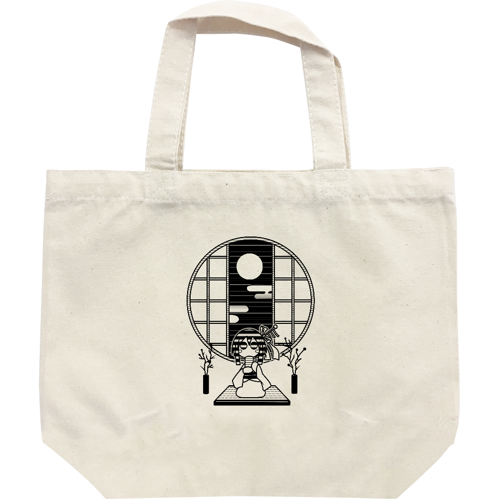 和室でお茶 トートバッグ レギュラーキャンバストートバッグ(S)