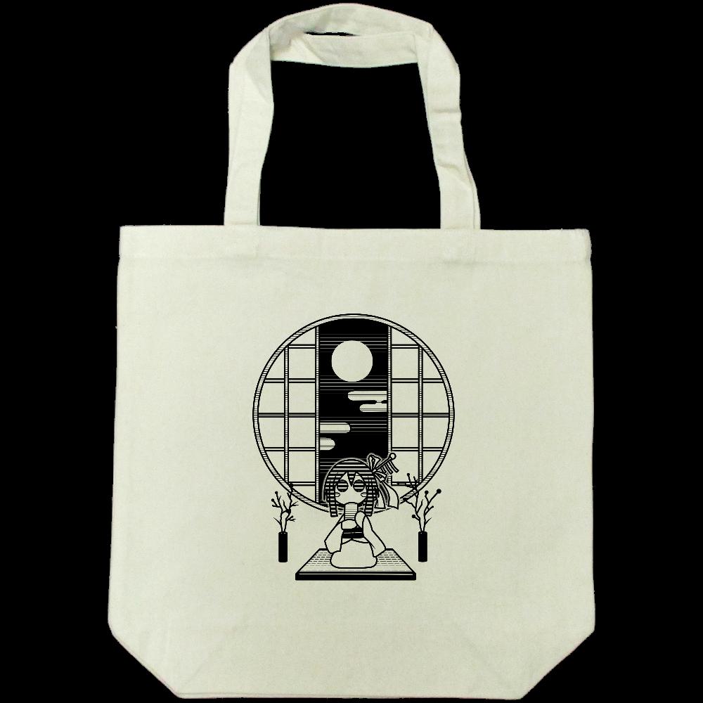 和室でお茶 トートバッグ ライトキャンバストートバック(M)