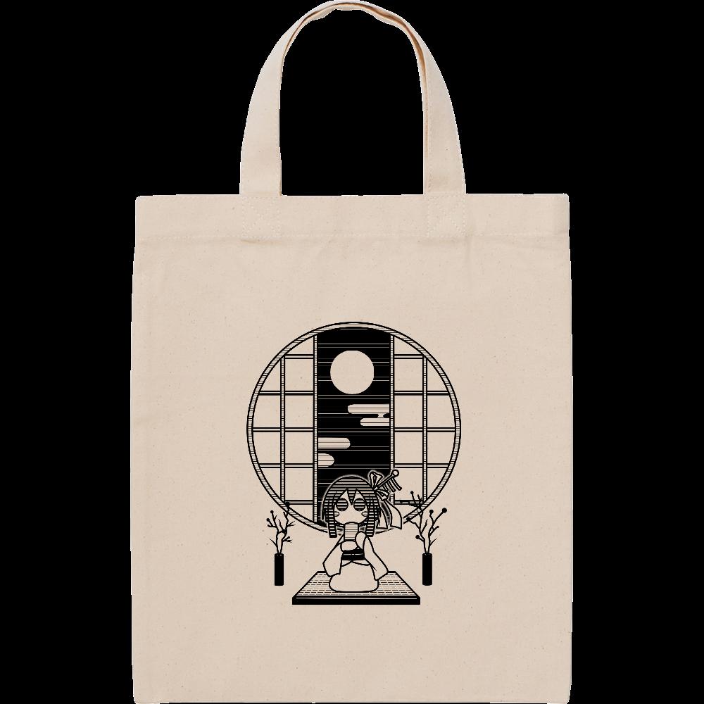 和室でお茶 トートバッグ スタンダードキャンバスフラットトートバッグ(S)