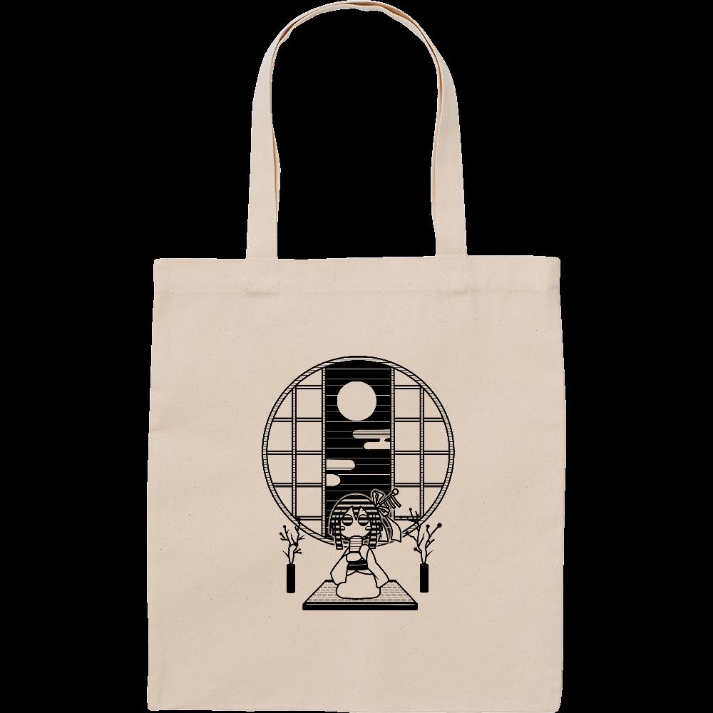 和室でお茶 トートバッグ スタンダードキャンバスフラットトートバッグ(M)