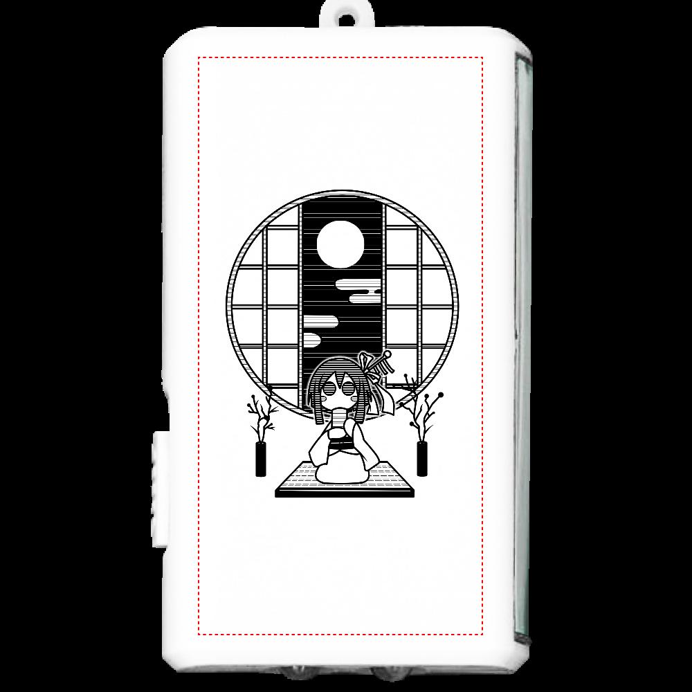 和室でお茶 ライト オリジナルフラットライト(カラビナ付)