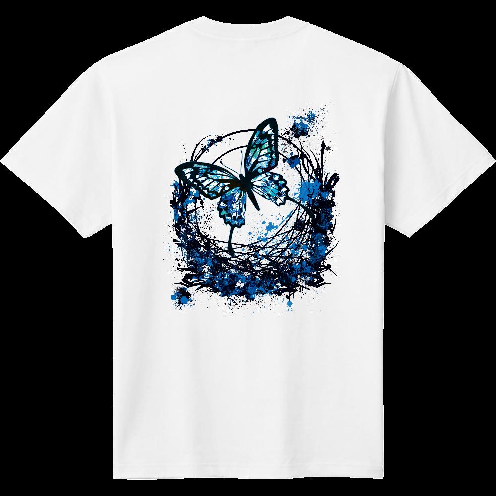 アゲハ蝶青背面印刷 定番Tシャツ