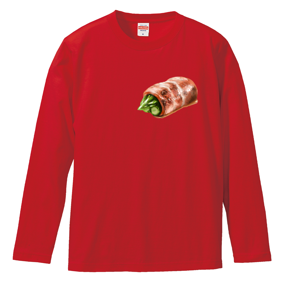 アスパラベーコン ロングスリーブTシャツ