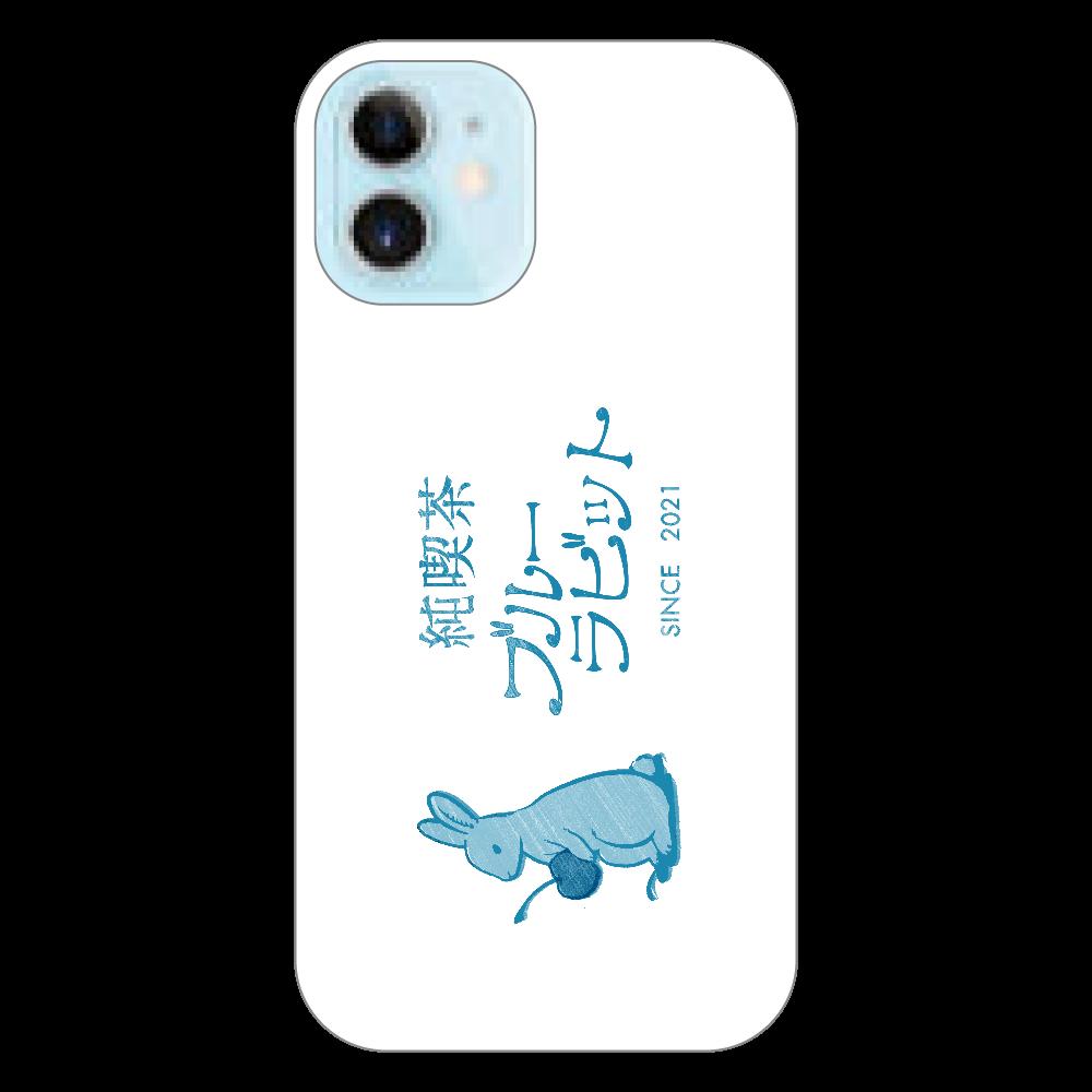 純喫茶ブルーラビット ロゴ横型 iPhoneカバー iPhone12 mini