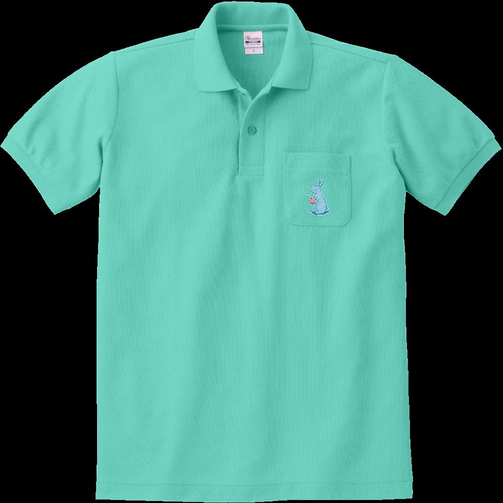 純喫茶ブルーラビット ブルラビポロシャツ(ポケット付き) 定番ポロシャツ(ポケット付き)