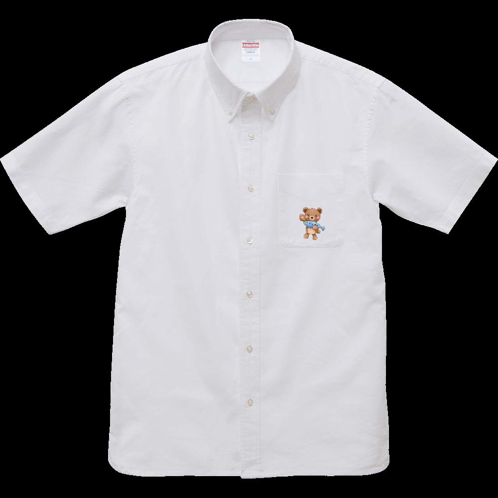 ゆっくまーシャツ オックスフォードボタンダウンショートスリーブシャツ