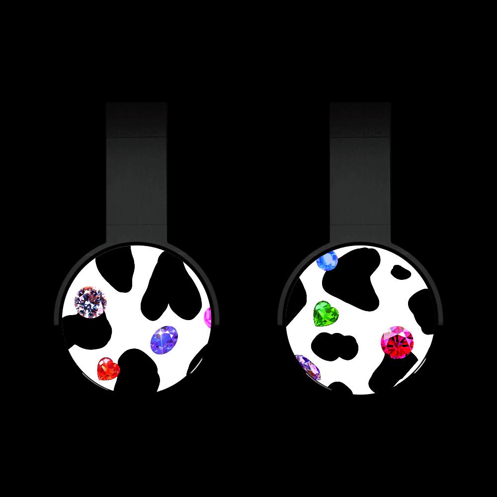 牛柄と宝石 Bluetoothヘッドフォン ブラック Bluetoothヘッドフォン