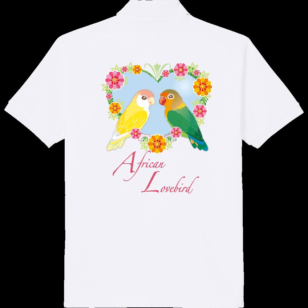 ハートリースコザクラ&ボタン 定番ポロシャツ