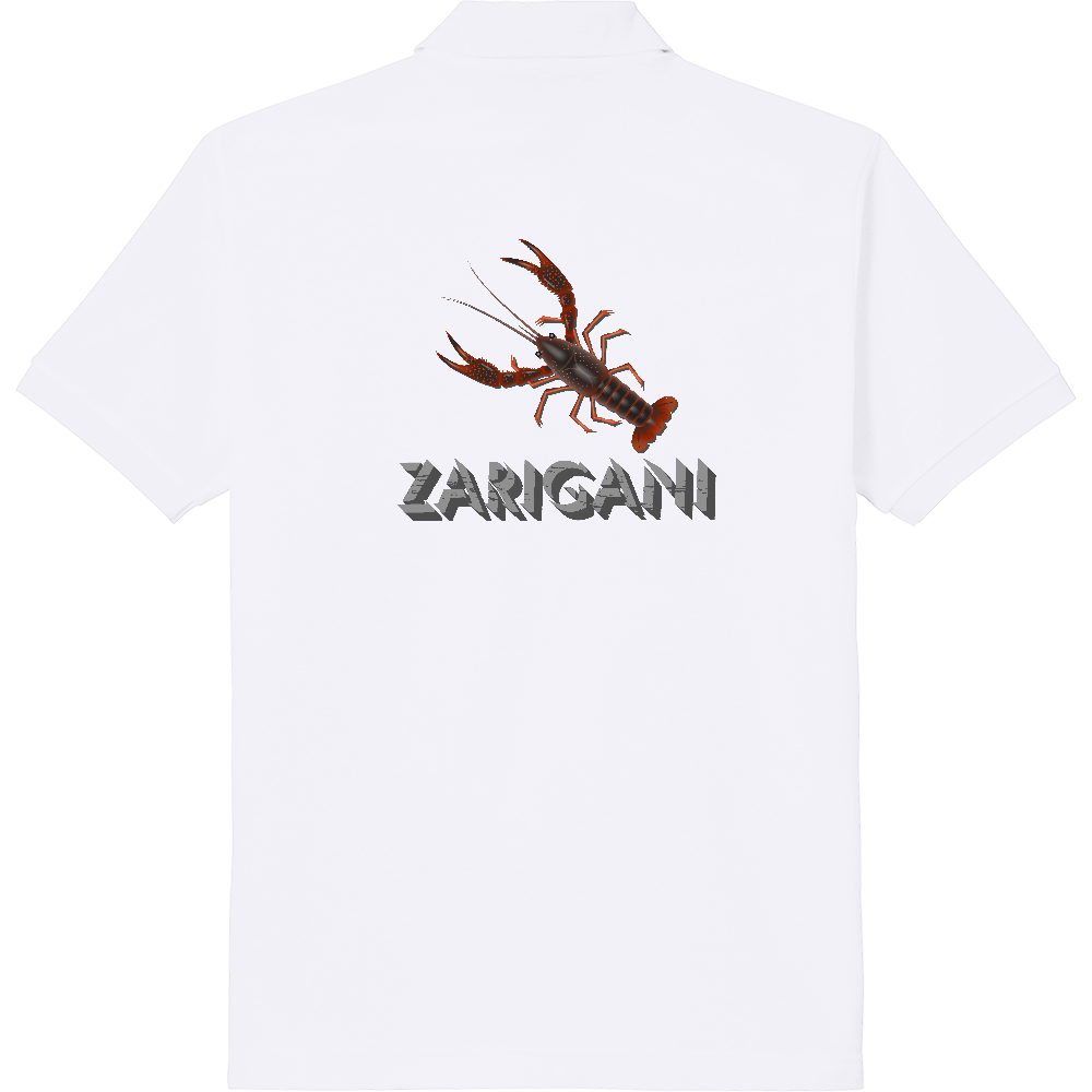 ZARIGANI_2C(背面) 定番ポロシャツ