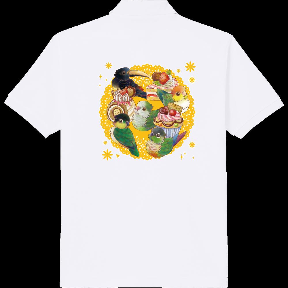 ケーキと中型インコポロシャツ 定番ポロシャツ