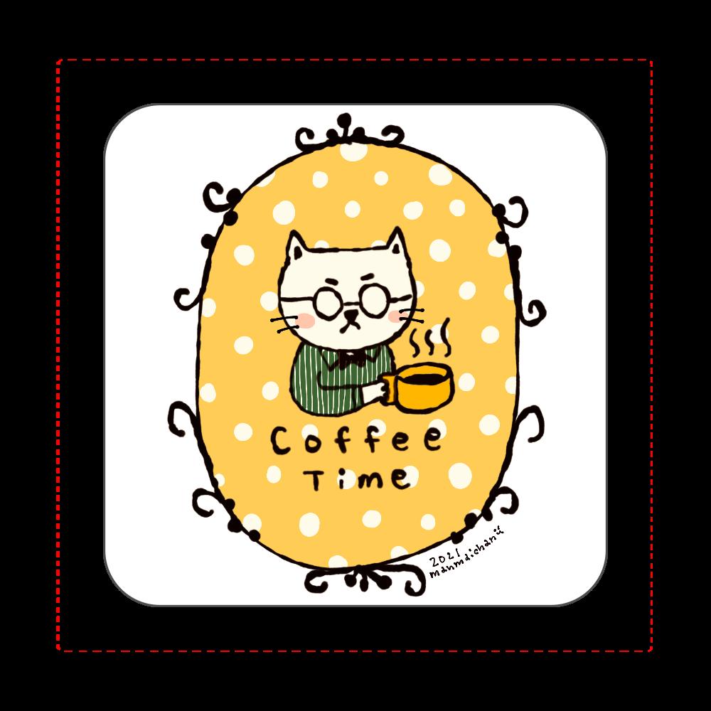 コーヒータイム ハンカチタオル 全面プリントハンカチタオル