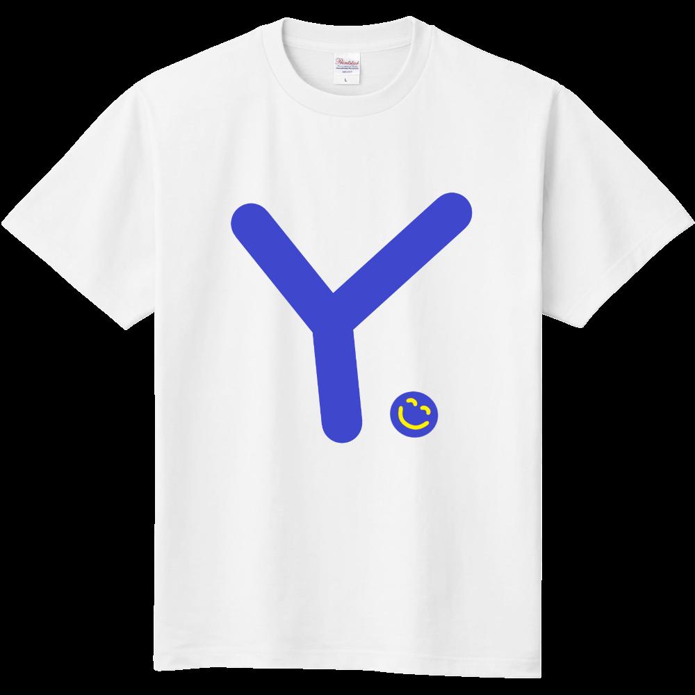 """イニシャル""""Y""""&ほのぼの笑顔Tシャツ 定番Tシャツ"""