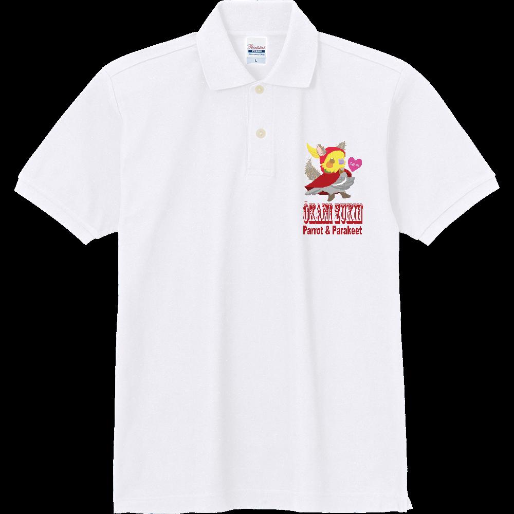 狼ずきんオカメインコ1ポイントポロ 定番ポロシャツ