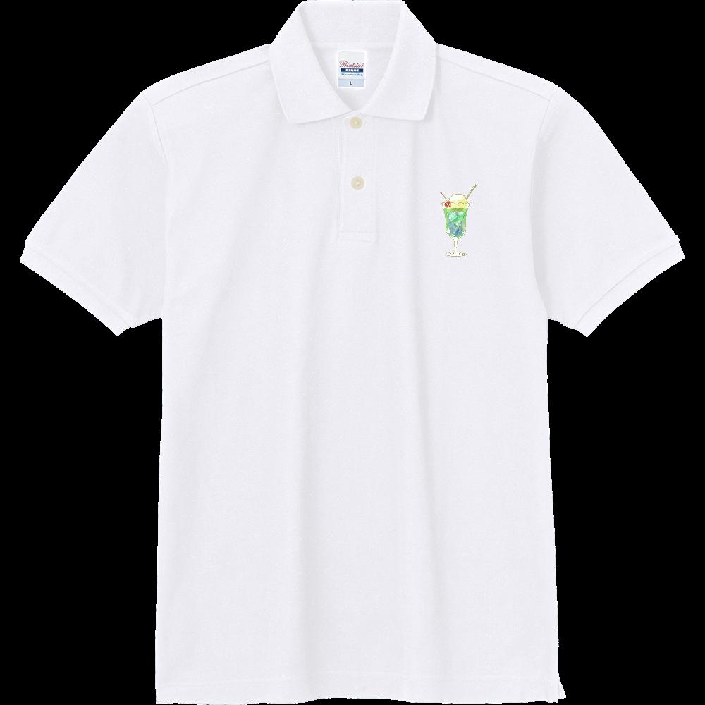 純喫茶ブルーラビット (クリームソーダ) 定番ポロシャツ 定番ポロシャツ